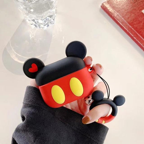 AirPods Pro Case Cute Mickey Cartoon AirPods Cover With Keychain-CoolDesignOnline