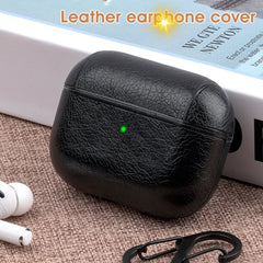 AirPods Pro Case Leather With Keychain AirPods Cover Dark Brown-CoolDesignOnline