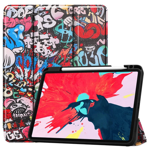 iPad Pro Case 2020 11 inch 4th Gen Pencil Holder Folio Case Cover A2-CoolDesignOnline