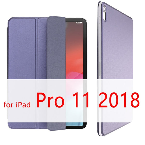 iPad Pro 11 Case 2018 Magnetic Pencil Holder Smart Cover Dark Blue-CoolDesignOnline