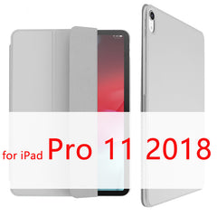 iPad Pro 11 Case 2018 Magnetic Pencil Holder Smart Cover Gray-CoolDesignOnline
