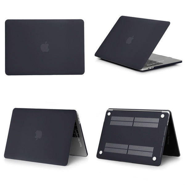 MacBook Case 12 inch Clear Shell Laptop Cover Matte Black-CoolDesignOnline