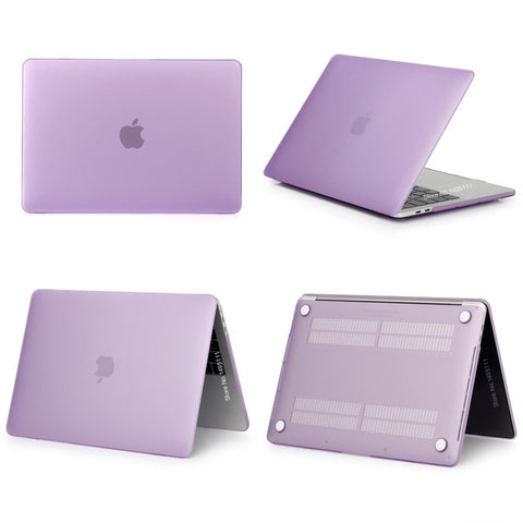 MacBook Case 12 inch Clear Shell Laptop Cover Matte Purple-CoolDesignOnline