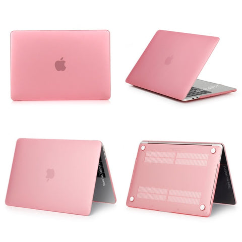 MacBook Pro Case 13 inch Touch Bar Clear Shell Laptop Cover Matte Pink-CoolDesignOnline
