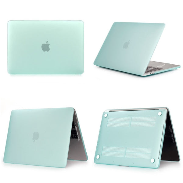 MacBook Case 12 inch Clear Shell Laptop Cover Matte Green-CoolDesignOnline