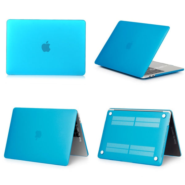 MacBook Case 12 inch Clear Shell Laptop Cover Matte Light Blue-CoolDesignOnline