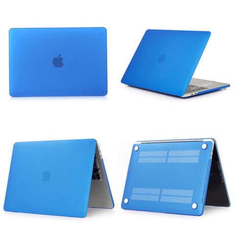 MacBook Pro Case 13 inch Touch Bar Clear Shell Laptop Cover Matte Deep Blue-CoolDesignOnline