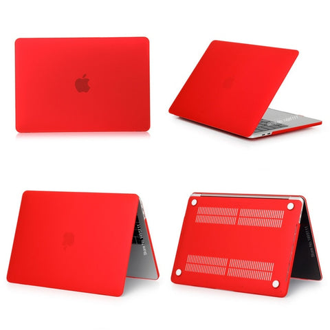 MacBook Case 12 inch Clear Shell Laptop Cover Matte Red-CoolDesignOnline