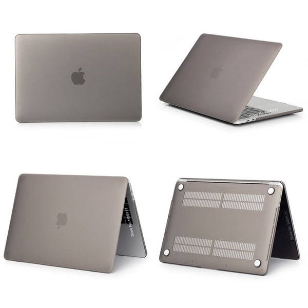 MacBook Pro Case 15 inch 2018 Touch Bar Hard Shell Matte Gray-CoolDesignOnline
