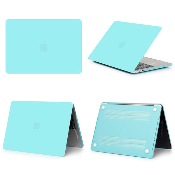 MacBook Case 12 inch Stylish Clear Shell Laptop Cover Matte Mint-CoolDesignOnline