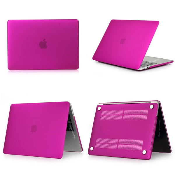 MacBook Case 12 inch Stylish Clear Shell Laptop Cover Matte Deep Purple-CoolDesignOnline