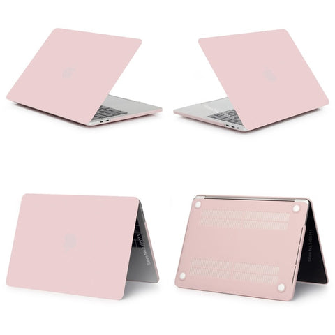 MacBook Case 12 inch Stylish Clear Shell Laptop Cover Matte New Pink-CoolDesignOnline