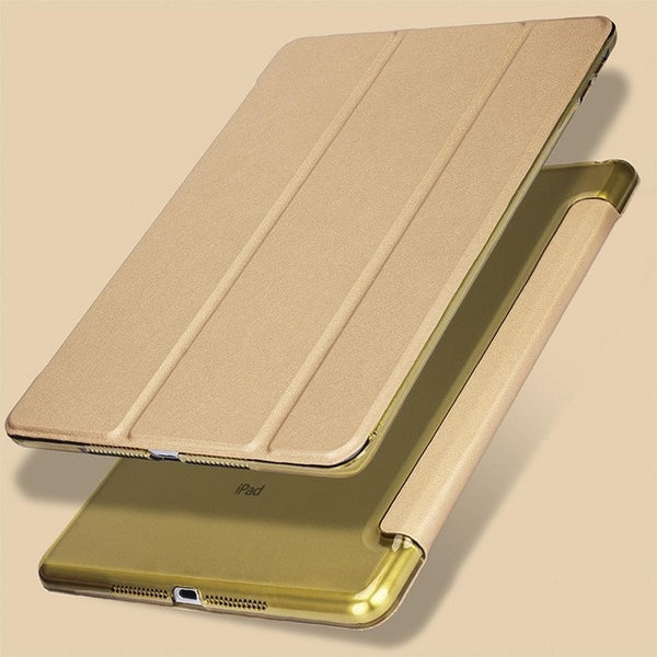 iPad Pro Case 10.5-inch 2nd Generation PU Leather Smart Cover Gold-CoolDesignOnline