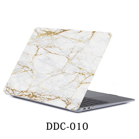 White Marble MacBook Pro Case 15 inch With Touch Bar Laptop Case 010-CoolDesignOnline