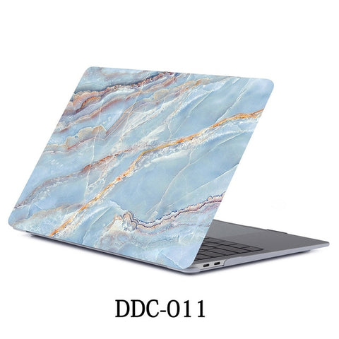 MacBook Air Case 2018 13 inch Touch ID Marble Case Laptop Cover 011-CoolDesignOnline