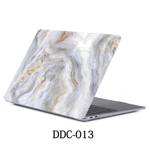 Gray Marble MacBook Pro Case 15 inch With Touch Bar Laptop Case 013-CoolDesignOnline