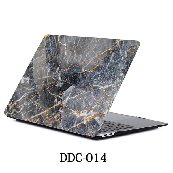 MacBook Air Case 2018 13 inch Touch ID Marble Case Laptop Cover 014-CoolDesignOnline