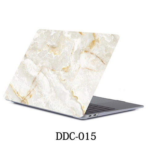 White Marble MacBook Pro Case 15 inch With Touch Bar Laptop Case 015-CoolDesignOnline