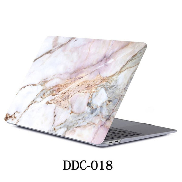 White Marble MacBook Pro Case 15 inch With Touch Bar Laptop Case 018-CoolDesignOnline