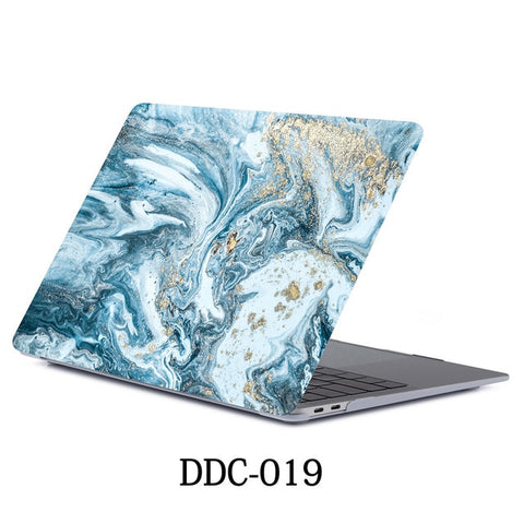 MacBook Air Case 2018 13 inch Touch ID Marble Case Laptop Cover 019-CoolDesignOnline
