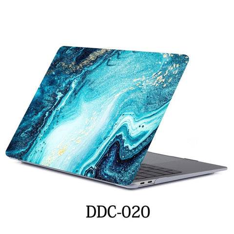 MacBook Air Case 2018 13 inch Touch ID Marble Case Laptop Cover 020-CoolDesignOnline