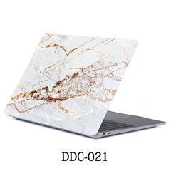 White Marble MacBook Pro Case 15 inch With Touch Bar Laptop Case 021-CoolDesignOnline