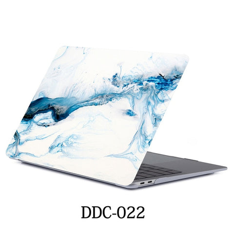 MacBook Air Case 2018 13 inch Touch ID Marble Case Laptop Cover 022-CoolDesignOnline