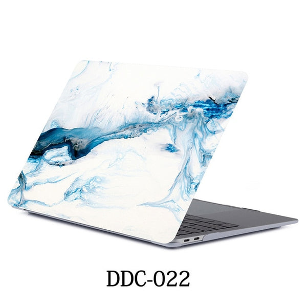 White Marble MacBook Pro Case 15 inch With Touch Bar Laptop Case 022-CoolDesignOnline
