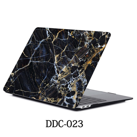 Black Marble MacBook Pro Case 15 inch With Touch Bar Laptop Case 023-CoolDesignOnline