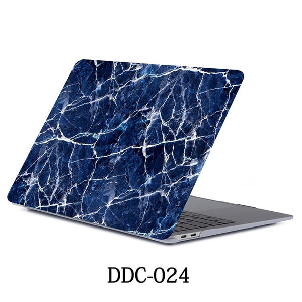 MacBook Air Case 2018 13 inch Touch ID Marble Case Laptop Cover 024-CoolDesignOnline