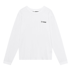 CLAUDETTE UNISEX LONG SLEEVE T-SHIRT WHITE