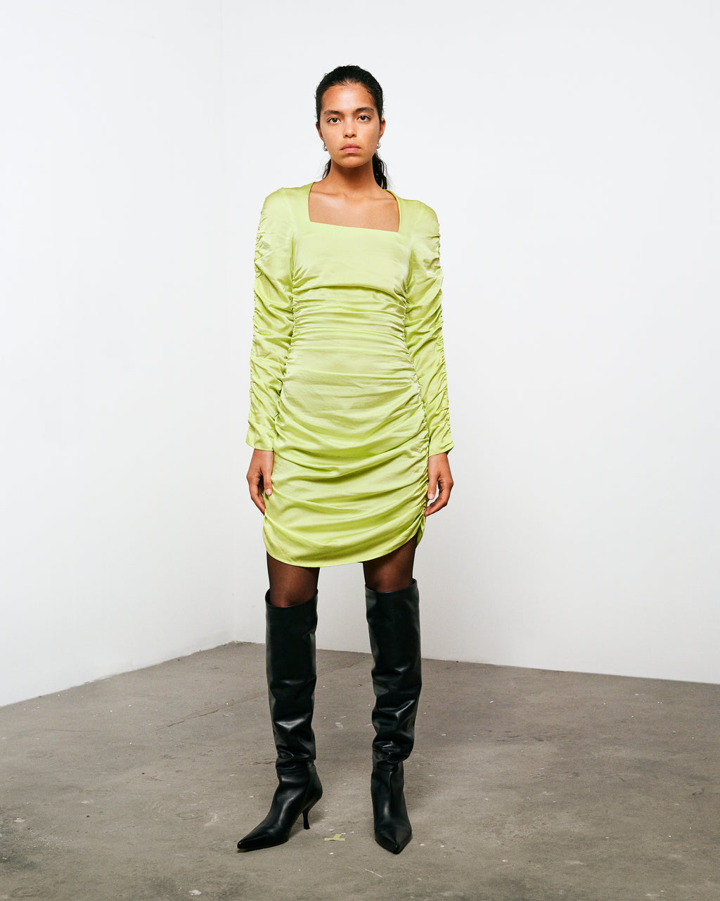 KIRSTEN DRESS SUNNY LIME