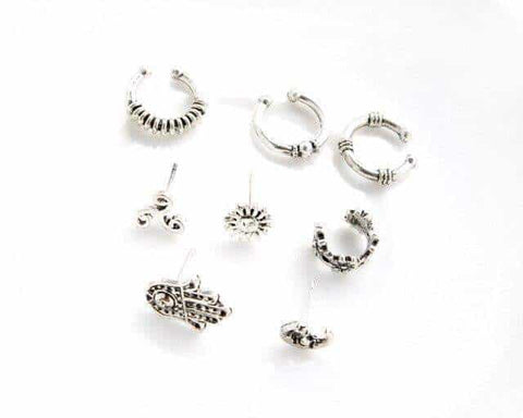 "Pack Pendientes Ear Cuff ""Flower"""