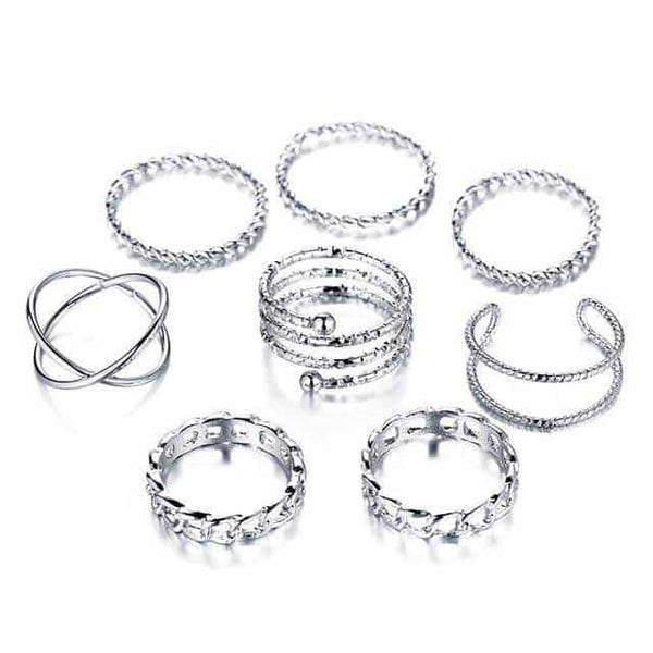 "Pack anillos ""lace"""