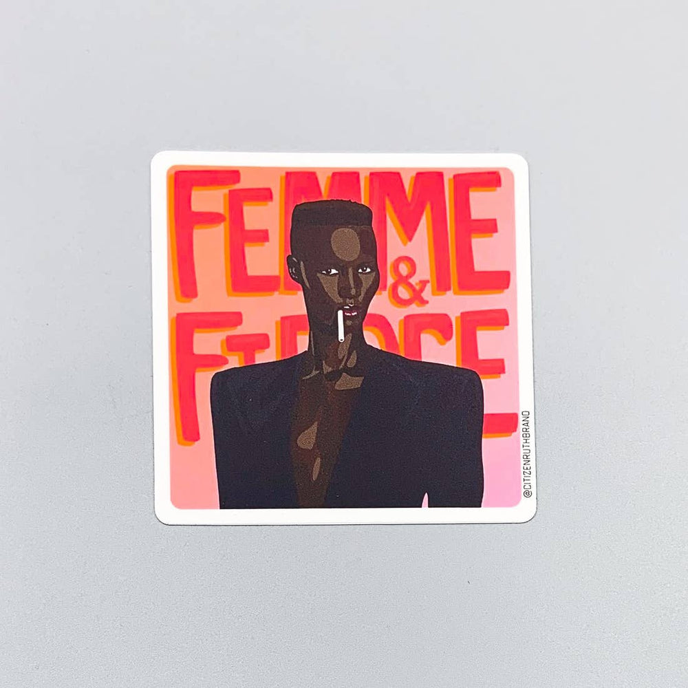 Grace Jones Fierce Sticker