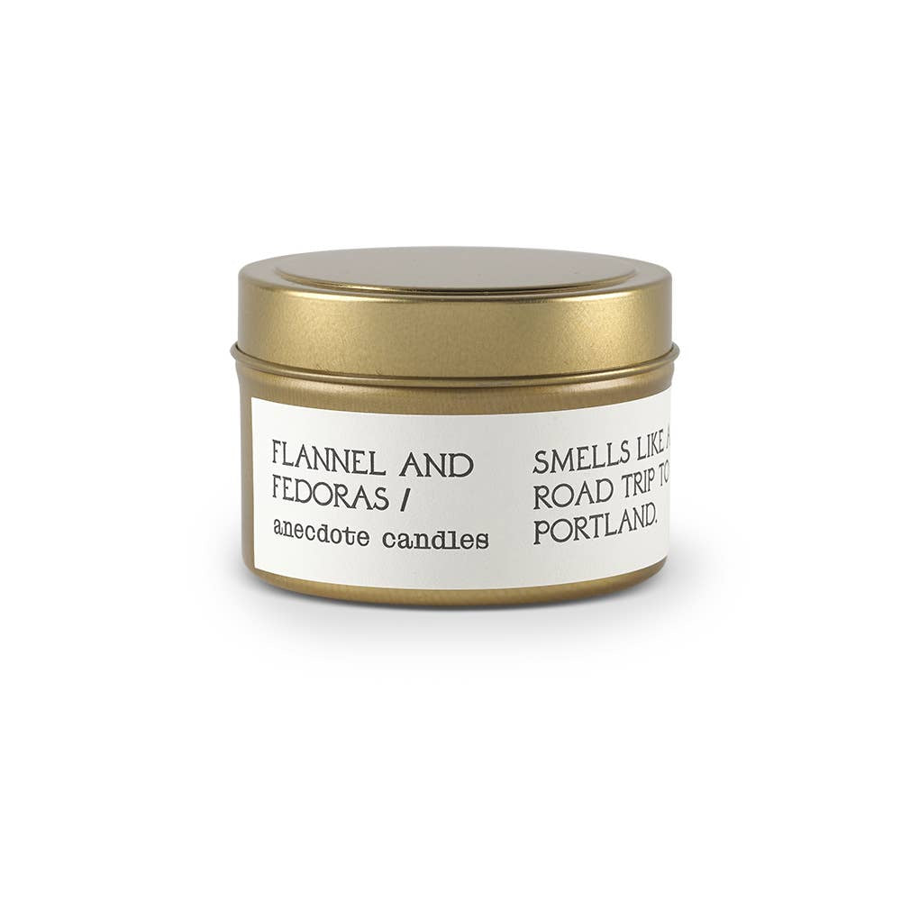 Candle | 'Flannel and Fedoras' Tin - Poppy and Stella