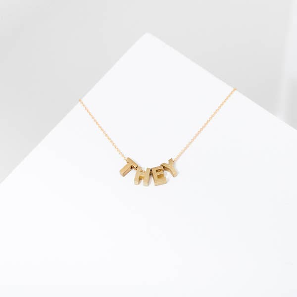Pronoun Necklace | THEY