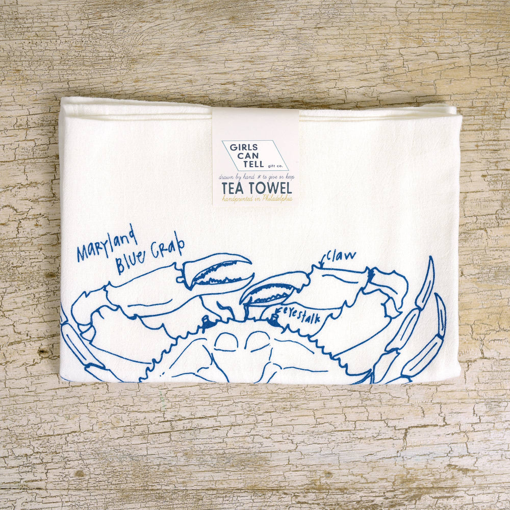 Maryland Blue Crab Tea Towel