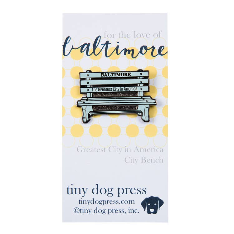 Enamel Pin | Greatest City Bench