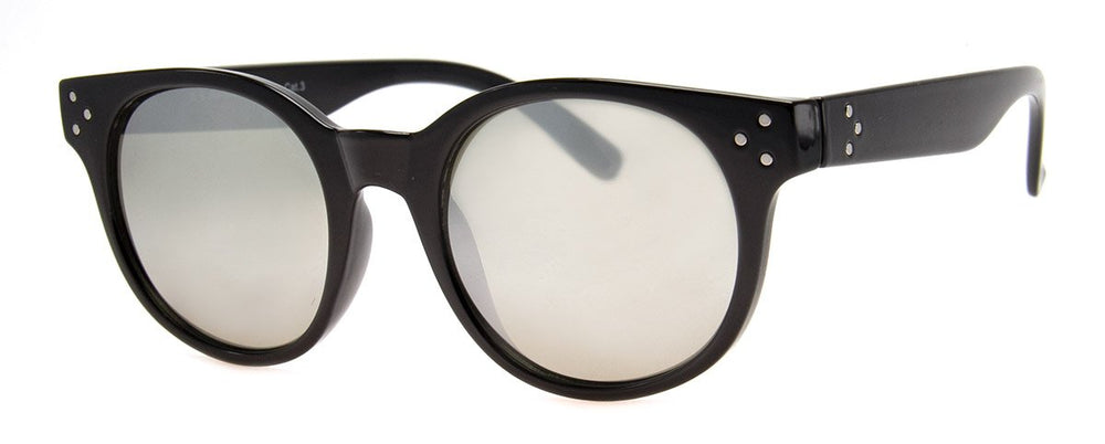 Mirrored Black Frame Sunnies - Poppy and Stella
