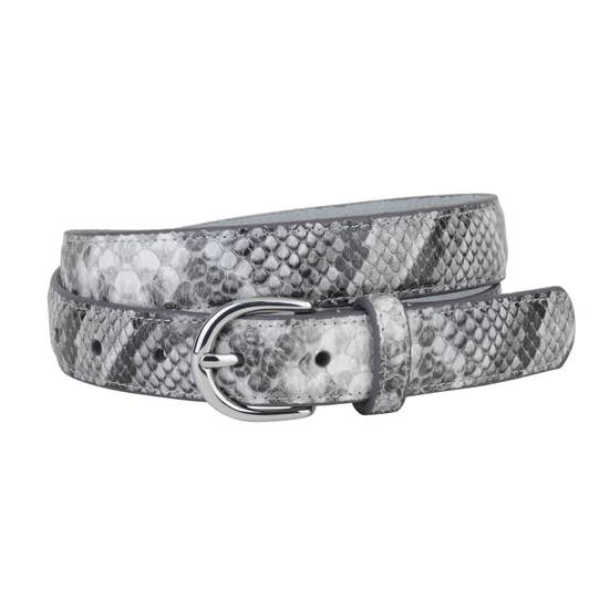 Snakeskin Belt | Grey & Silver - Poppy and Stella