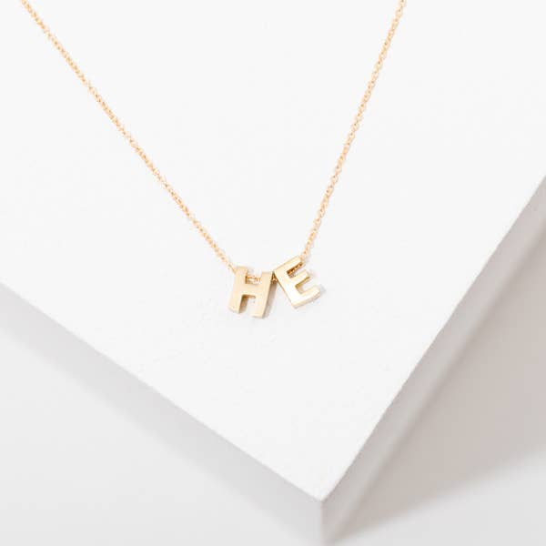 Pronoun Necklace | HE