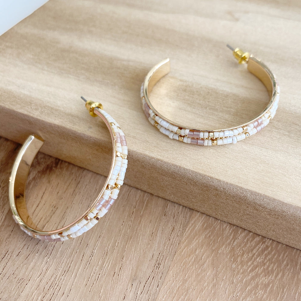 Miranda Hoop Earrings | Neutral