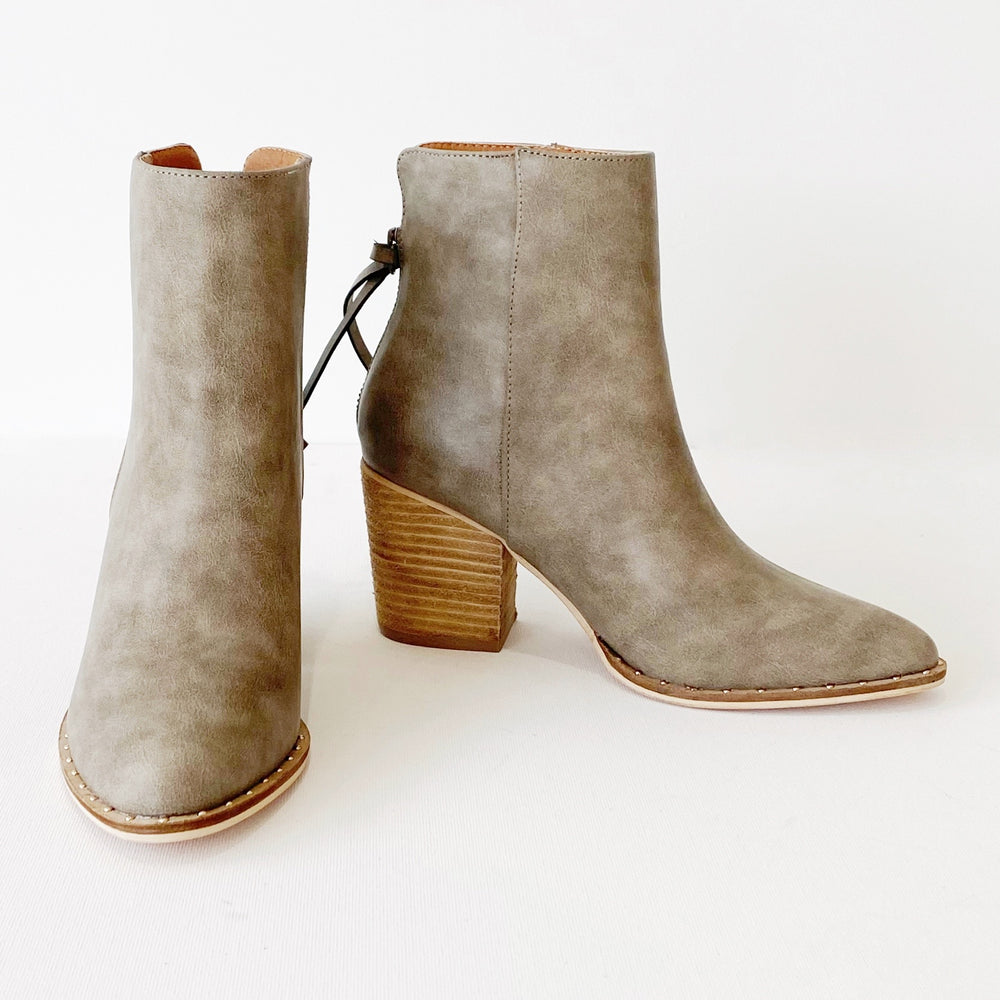 Wendy Bootie | Grey Leather