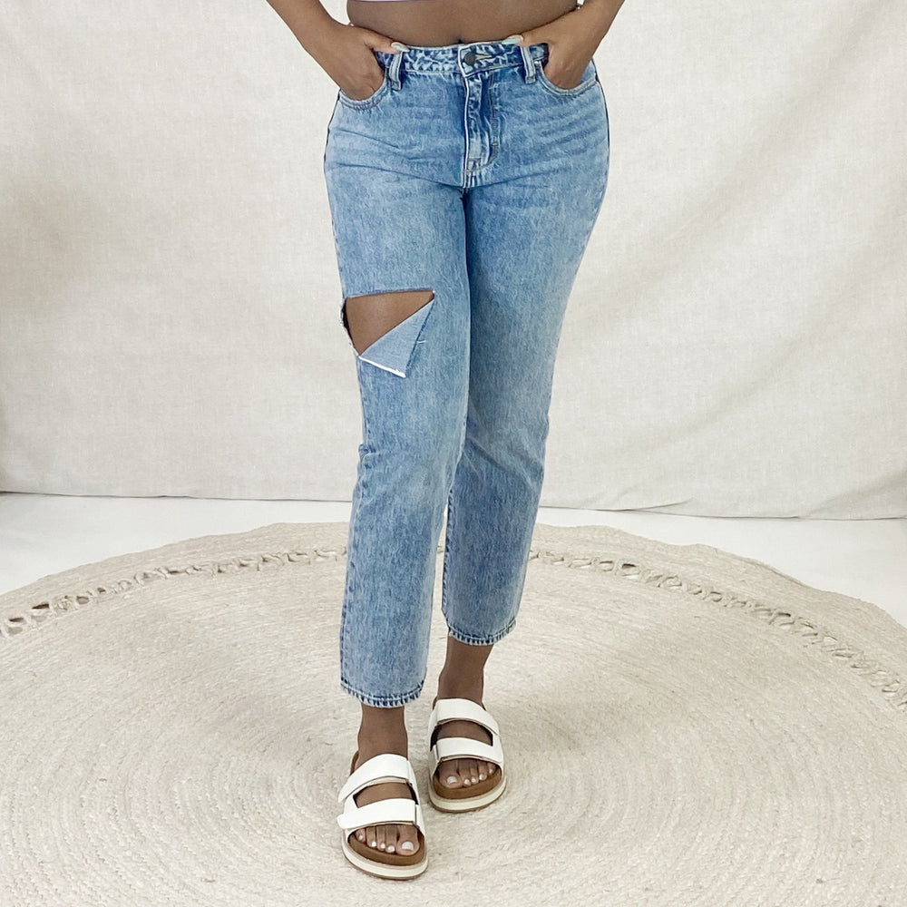 Tracey High Rise Straight Crop Jeans | Dark Wash