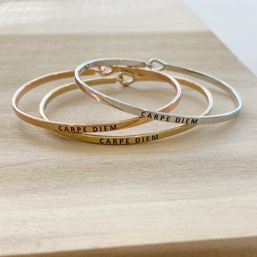 Metal Clasp Bracelet | Carpe Diem - Poppy and Stella
