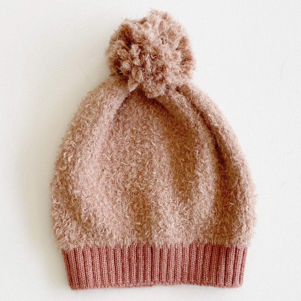 Frosted Tops Pom Pom Beanie | Dusty Rose