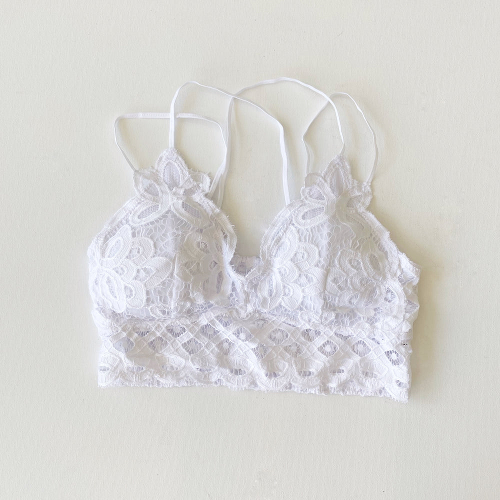 The Mermaid Bralette | White