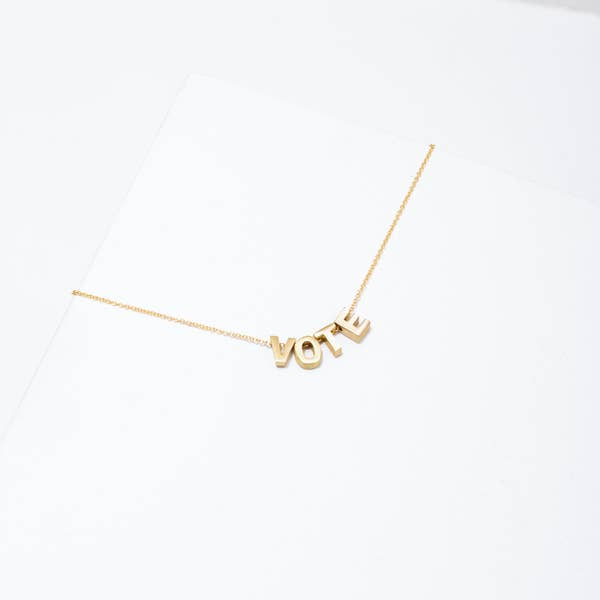 Vote Necklace | 24k Gold Plated