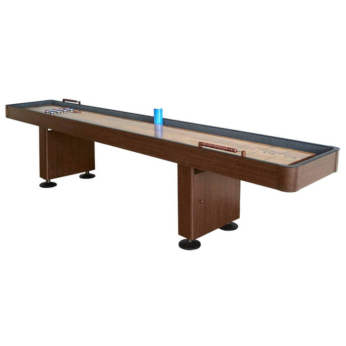 Challenger 9-Foot Shuffleboard - Walnut finish